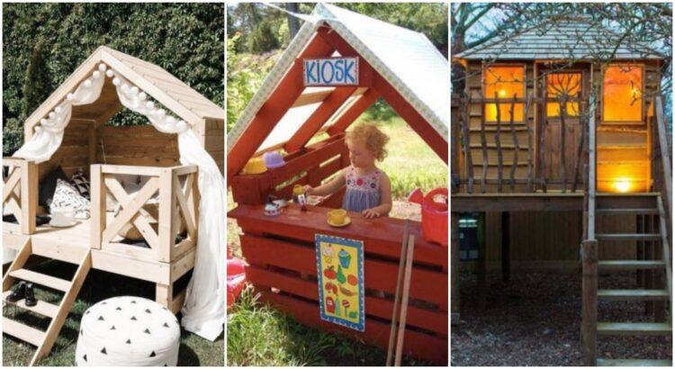 Cabane en palette : 30 réalisations originales pour les enfants